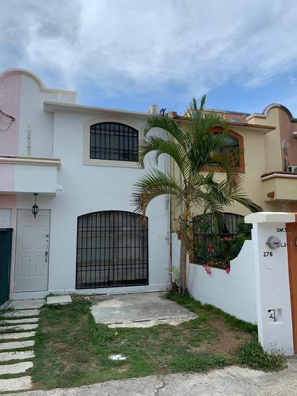 Rento Casa En Cancun, Fracc. Porto Alegre