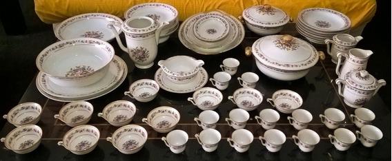 Antiguo Juego De Vajilla Porcelana Limoges Paris 135 Piezas
