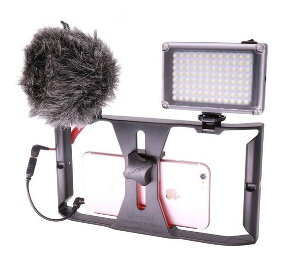 Kit Stedicam Para Celulares Com Led 96 E Microfone