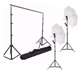 Kit Suporte Fundo Estudio Fotográfic Ys-300+kit Iluminação