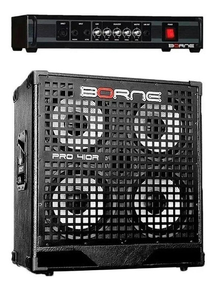 Kit Borne Baixo Cabeçote Pro 300 + Caixa 4x10 Aluminio