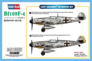 Avião Messerschmitt Bf-109 F-4 1/48 Kit Hobby Boss P/ Montar