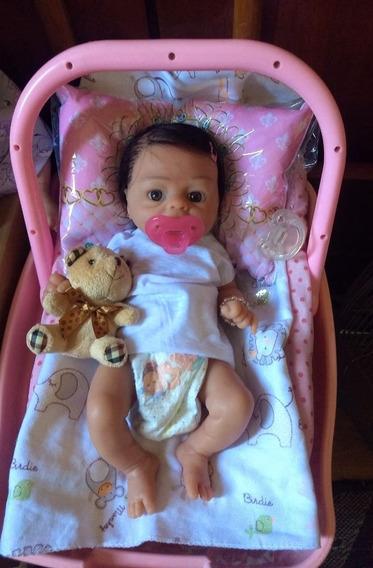 Bebê Reborn Prematuro Silicone Sólido Menina