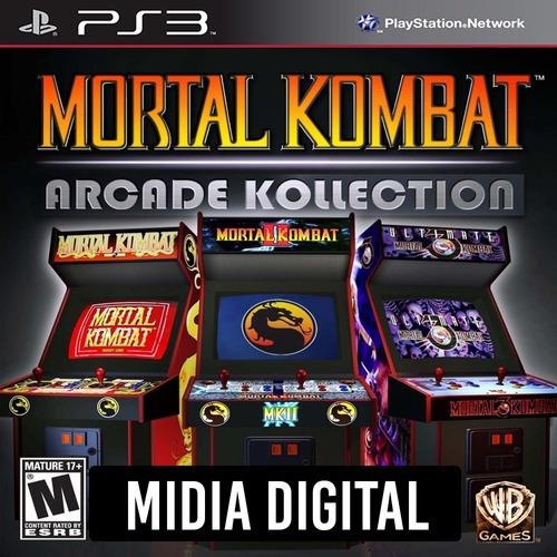 Mortal Kombat Arcade Kollection 1 2 & Ultimate 3 - Ps3 Psn*