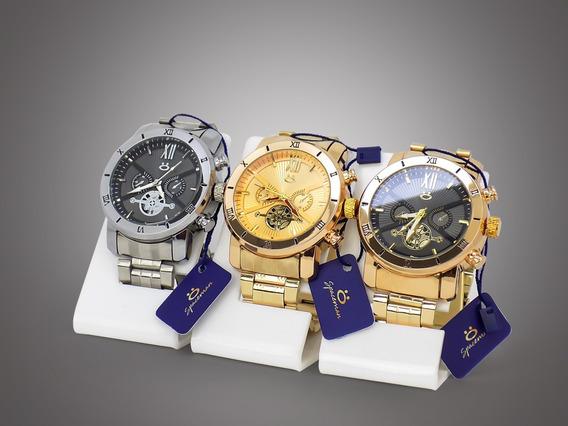 Kit 20 Relógios Masculino Dourado Original Barato Atacado