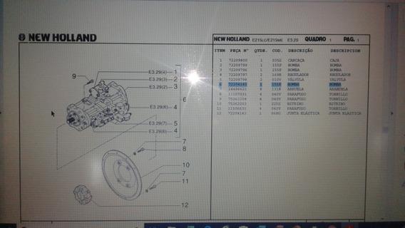 Bomba Hidráulica Completa Escavadeira New Holland 215