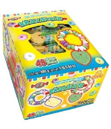 Imagen 1 de 2 de 1 Caja Dulce Brazalete Comprimidos Frutas Pulsera Delicias