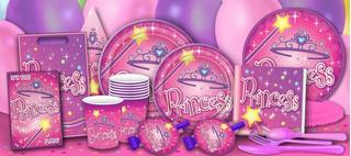 Set Fiesta Princesa Cumpleaños Feliz Plato Servilleta Vaso