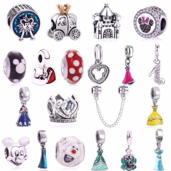 Kit 7 Disney Princesas Berloque Charm Pingente Para Pandora