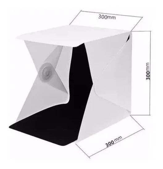Photo Box Estúdio Com Luz Led Mini Studio Fotografico 30cm