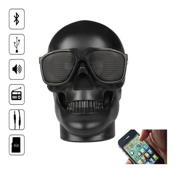 Caixa De Som Bluetooth Caveira Portatil