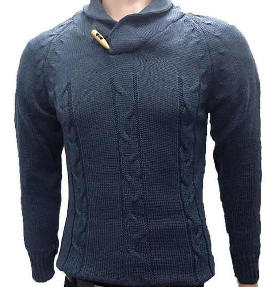 Sweater Hombre Cuello Smoking Pullover Cuello Bote Excelente