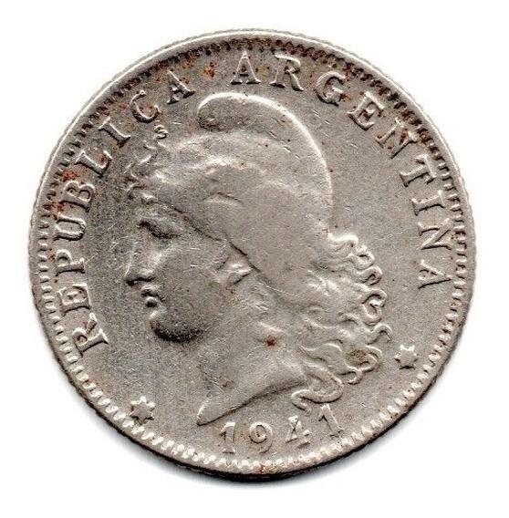 Moneda Argentina Niquel 20 Centavos 1941 Escasa