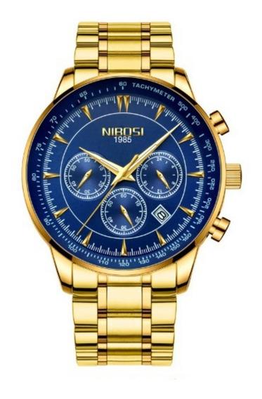Relógio Nibosi Original 100% Funcional À Pronta Entrega