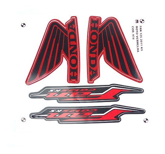 Adesivo Moto Fan125 Ks 2011 Vermelha