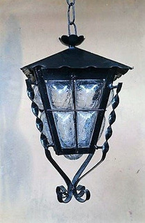Farol Colgante Exterior Lámpara Forja