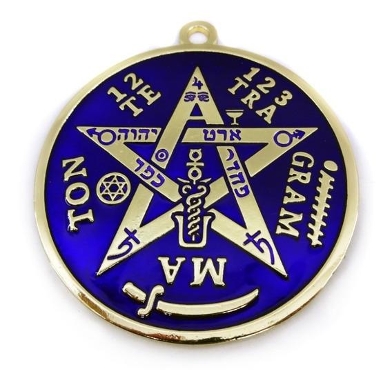 Pantáculo Tetragramaton Pentagrama Parede Altar 10 Cm