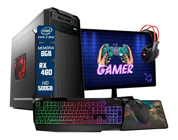 Pc Gamer Completo Barato Intel Pcyes Rx 460 8gb Hd 500gb