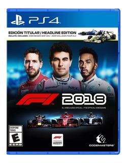 F1 2018 Formula 1 Playstation 4 Nuevo Y Sellado