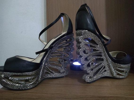 Sapato Feminino Com Salto Estilizado Importado Dos Eua!!!