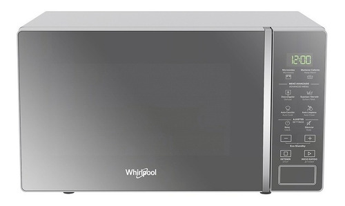 Microondas Whirlpool 20lt Silver Acabado En Espejo - Wm1807d