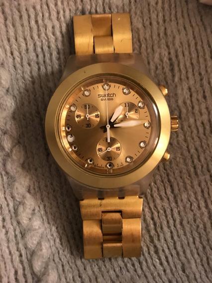 Relógio Swatch Irony Dourado