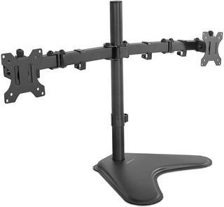 Base Dos Monitores Computadora 2 Pantallas Ajustable Negro