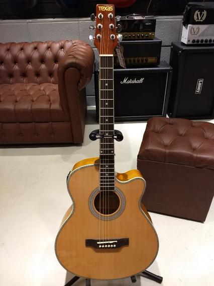 Guitarra Electroacustica Texas Ag60 Lc5 Nat Incluye Funda