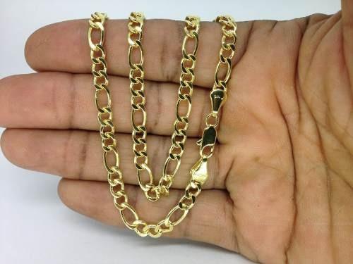 Corrente Cordão Masculina 3 X 1 Banhado Ouro 18k 60cm 5mm