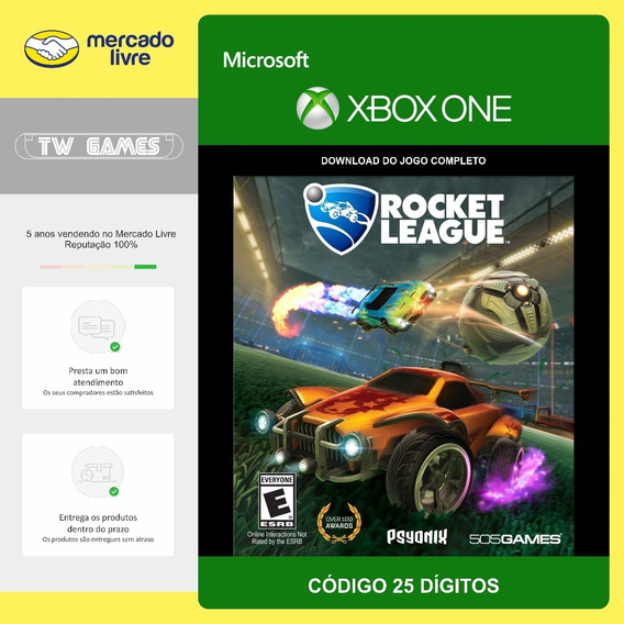 Rocket League - Digital - Código 25 Dígitos - Xbox One