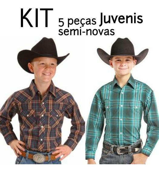 Camisas De Grife Kit Semi Novas Camisas Originais