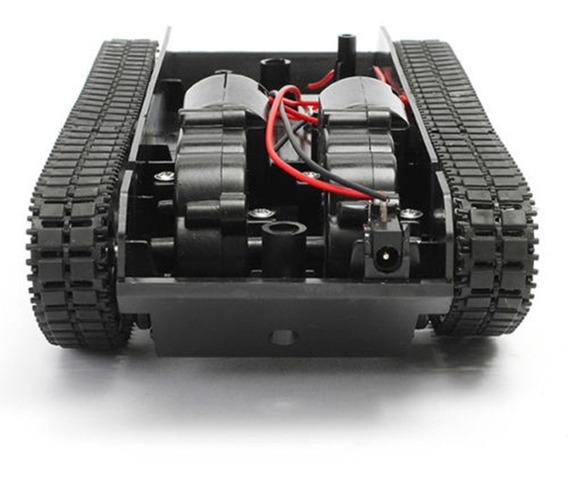 Smart Robot Tanque Car Chassis Kit Borracha Pista Crawler Pa