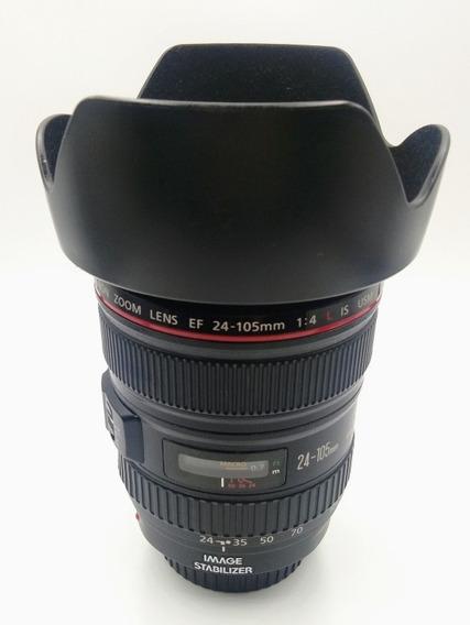 Lente Objetiva Canon 24-105mm F4 L Excelente Estado