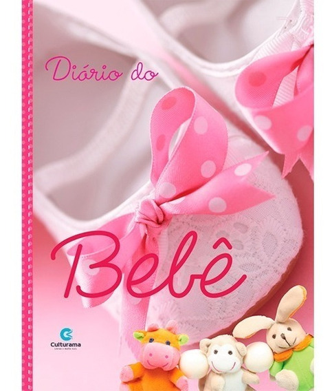 Livro Diário Para Bebê E Mamães Capa Dura Menina Rosa