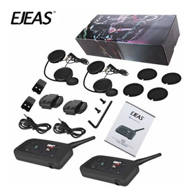 Comunicador Ejeas® V6 Pro Capacete Par - Pronta Entrega