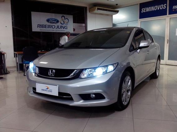 Honda Civic Lxr 2016 Prata Flex