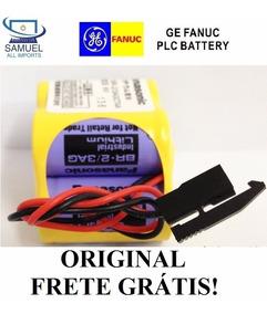 Bateria Cnc Fanuc Panasonic Br-2/3agct4a Plug Preto