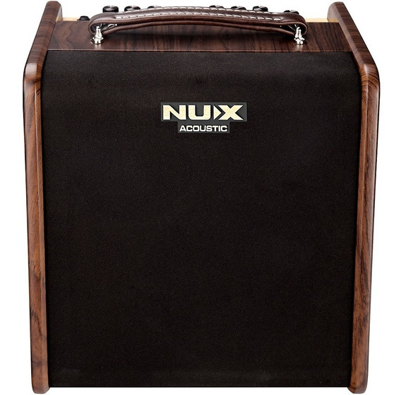 Amplificador P Violao E Voz Nux Stageman Ac-50 Novo