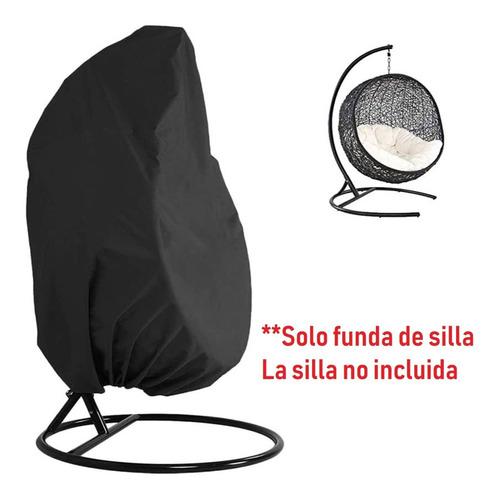 Imagen 1 de 10 de Funda Para Silla Colgante Para Huevos, Color Negro, Sin Crem