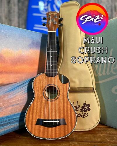 Imagem 1 de 4 de Ukulele Seizi Maui Crush Soprano Elétrico Sapele Com Bag