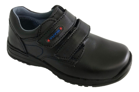 Zapato Escolar Choclo Yuyin 29140 Niño Cintas Piel Negro