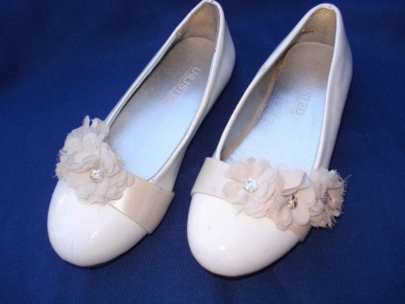 Muy Finos Zapatos Blancos Acharolados Comunión Casamiento