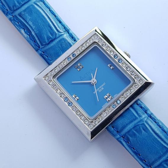 Relógio Feminino Activa Stone Cuadro Azul