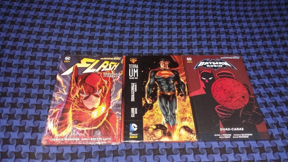 Hqs Flash Volume 1 - Terra Um Volume 2 - Batman E Robin...