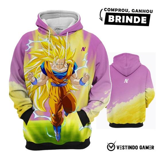 Casaco Do Frio Goku Super Sayajin C/capuz Queima De Estoque