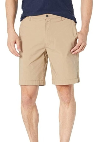 Bermuda Masculina Confortável De Sarja Slim Fit