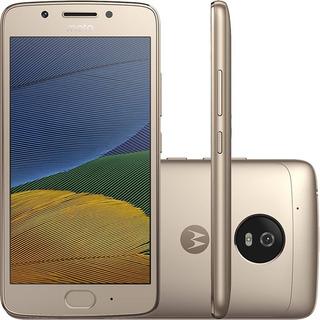 Smartphone Celular Motorola Original Moto G5 32gb Câmera 13mp 2 Chips Android 7.0 Tela 5 Biometria 4g