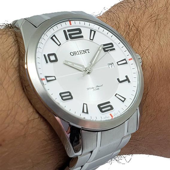 Relógio Orient Masculino Mbss1297 Aço Prata Com Nota Fiscal