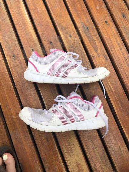 Zapatillas Blancas Con Rosa Talle 36 (6)