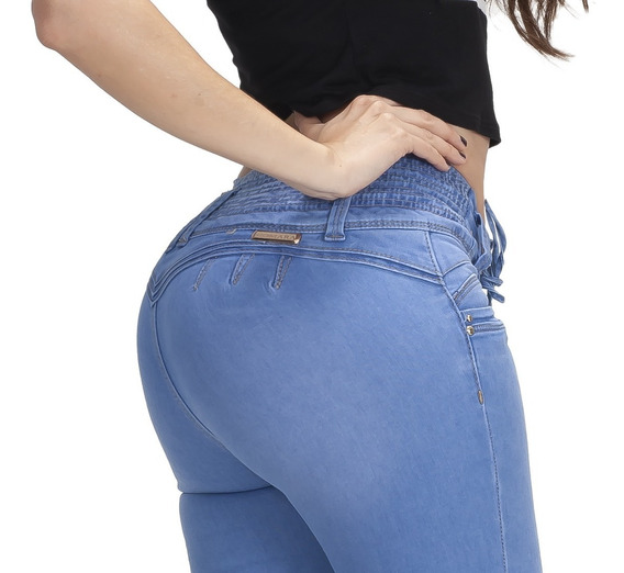 10 Jeans Jeans Dama Mujer Levanta Pompa Push Up Colombiano